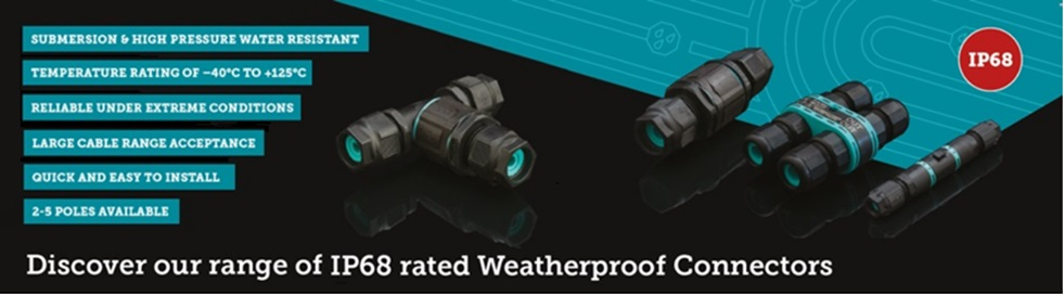 Discover our range of IP68 Weatherproof Connectors