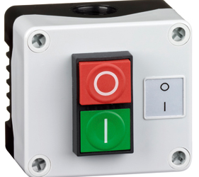 Control Stations - Dual Pushbutton, Single Switch Housing - 1DE.01.10AB