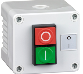 Control Stations - Dual Pushbutton, Single Switch Housing - 2DE.01.10AG
