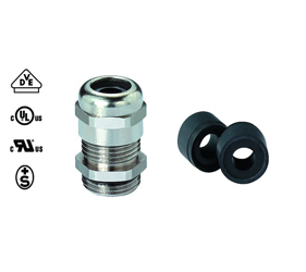 Cable Glands/Grommets - Nickel Plated Brass Metric Cable Glands - 50.663 M/R