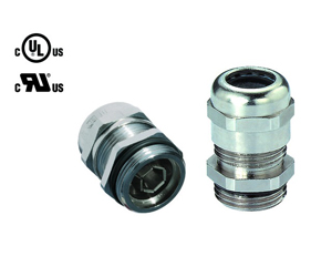 Cable Glands/Grommets - Nickel Plated Brass Metric Cable Glands - 50.663 M/EMVD