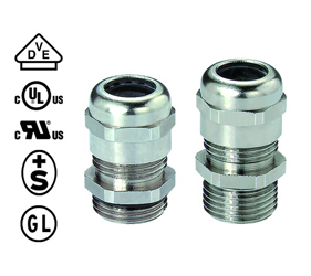 Cable Glands/Grommets - Nickel Plated Brass Metric Cable Glands - 50.663 M