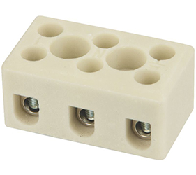 Emech Terminals/Accessories - Steatite Ceramic High Temp. Blocks - DESTB-0253