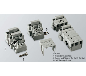 Emech Terminals/Accessories - Fused Pillar Terminal Blocks - HY133/2 LP