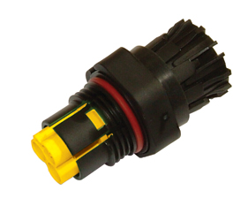 Weatherproof/Waterproof Connectors Range - TeePlug & Sockets - THB.386.A2A.AG.Z