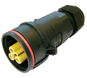 Weatherproof/Waterproof Connectors Range - TeePlug & Sockets - THB.404.B2G.AG