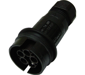 Weatherproof/Waterproof Connectors Range - TeePlug & Sockets - THB.408.A2A.AG.Z