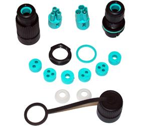 Weatherproof/Waterproof Connectors Range - TeePlug & Sockets - THR.384.S3A