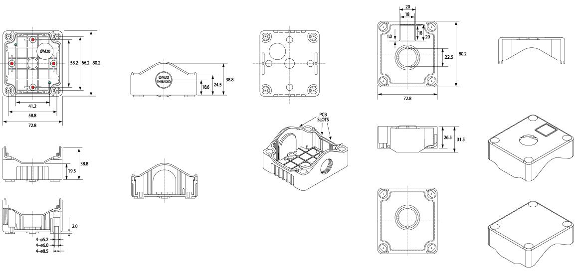 hylec junction boxes