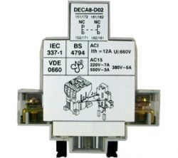 Motor Control Gear - Auxiliary Contact Blocks - DECA8-D11