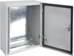 DEDS Series - IP66, IK10 Lockable solid door Steel Enclosures