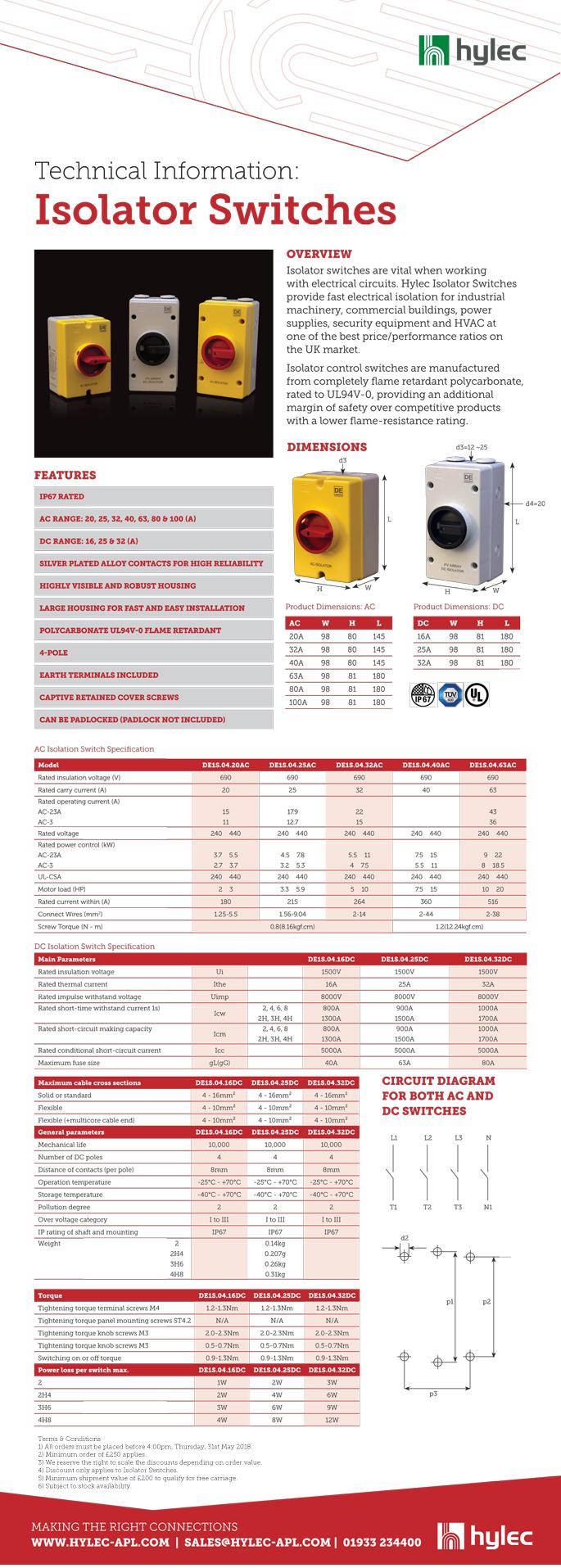 IP67 Isolator Switches